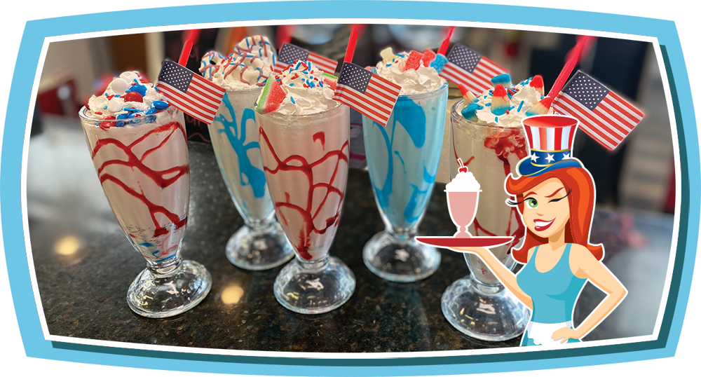 Featured Milkshakes at Donna's Diner