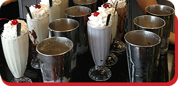 Hand Scooped Milkshakes at Donna's Diner